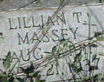 Lillian Massey tombstone